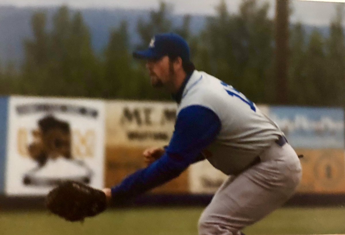 """#TBT to the summer of 1999 when I played in the 94th annual """"Midnight Sun"""" game in Fairbanks, Alaska against the Alaska Goldpanners (@RealGoldpanners).   @Alex_Flanagan was there too shooting a segment for the Fox Sports show """"Going Deep"""" in which you see me fly out to RF (F9). https://t.co/mDkPL3KtRK"""