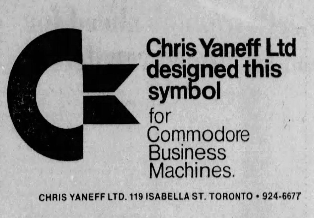 Chris Yaneff got his start as the art director of Financial Post from 1949-1956 after which he set out on his own and opened the design firm, Chris Yaneff, Ltd. It was this design firm that created the iconic #Commodore chicken lips logo in 1965. pic.twitter.com/CbSua8iMeX