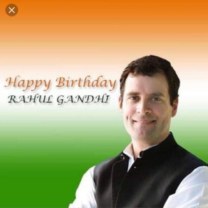 Many many happy returns of the day.. Happy birthday to Rahul Gandhi ji..