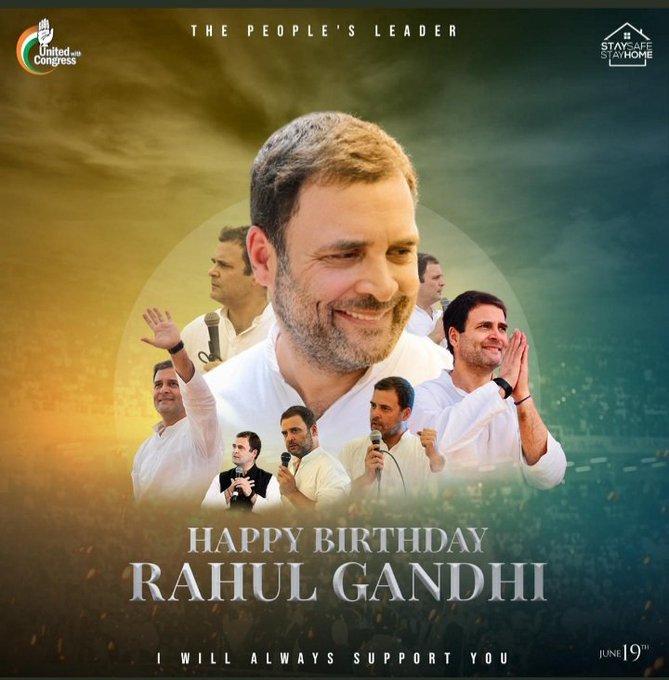 Happy Birthday Wishes to our Beloved Leader Shri Rahul Gandhi Ji!