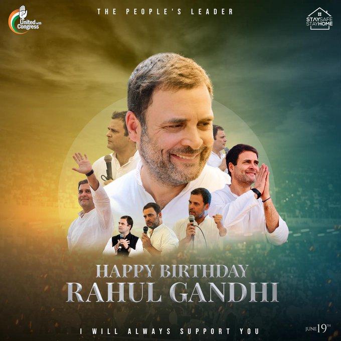 Happy birthday dear Rahul gandhi ji...... Good bless you