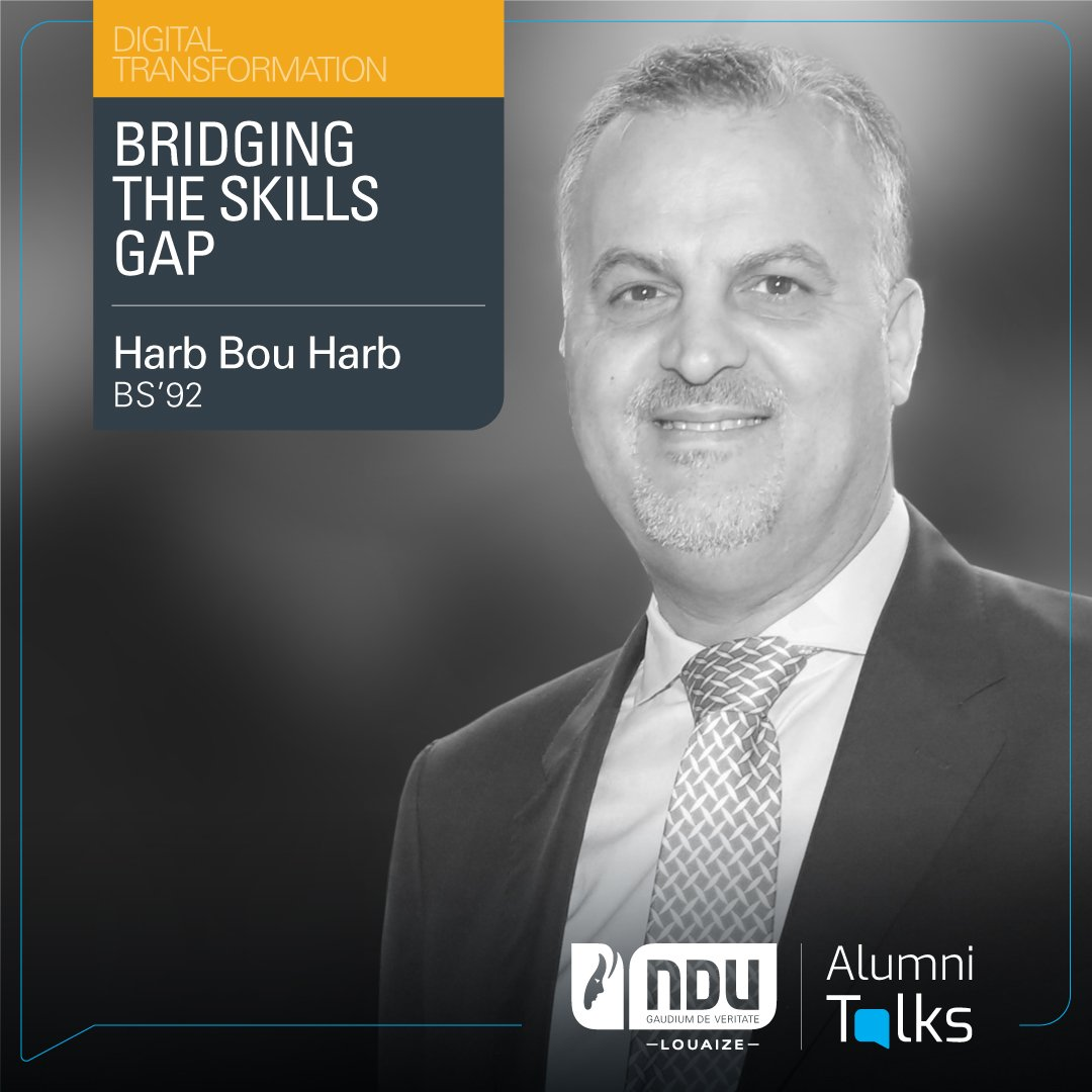 "June 20th at 11 a.m. will see you learn how to bridge the skill gap for employees & business owners with Alumnus Harb Bou Harb (BS'92), Senior Director Industry- Education at Microsoft Middle East & Africa, in his #AlumniTalks on ""Bridging the Skills Gap""  https://t.co/fd0FvVMMd9 https://t.co/4dgvcN754h"