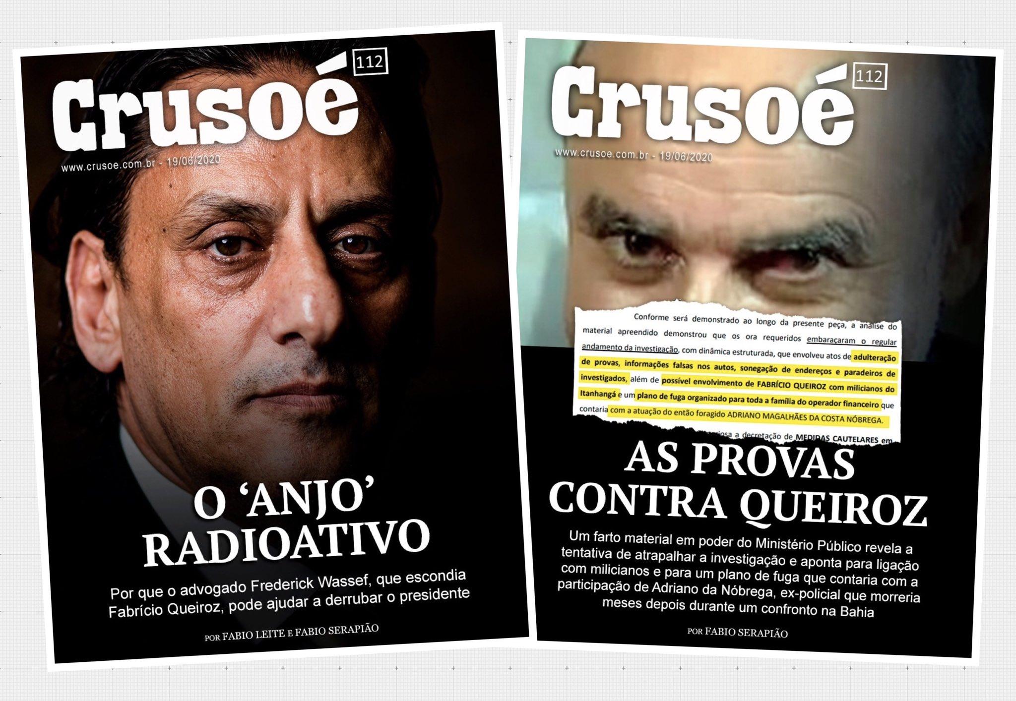 """Rodrigo Rangel on Twitter: """"A edição 112 da Crusoé, com duas capas ..."""