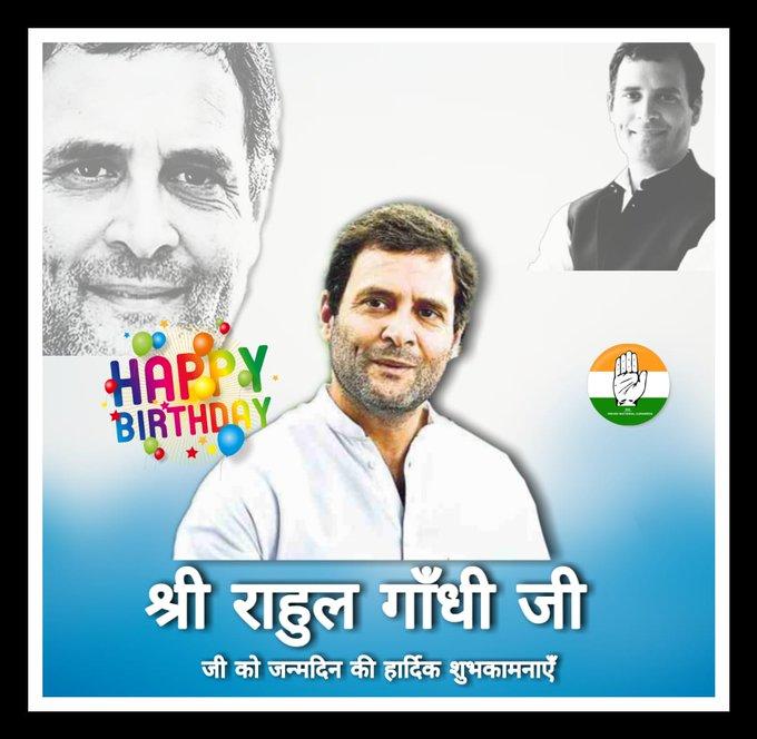 Wish you very very Happy birthday ex President Indian National Congress Shri Rahul Gandhi Ji