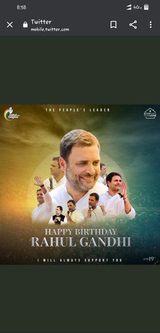 Wish you a very happy Birthday rahul gandhi ji.