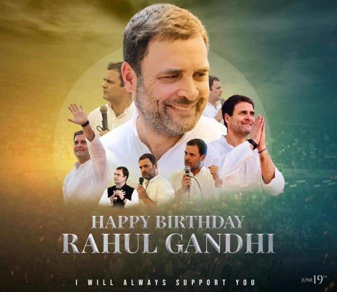 happy birthday Rahul Gandhi garu