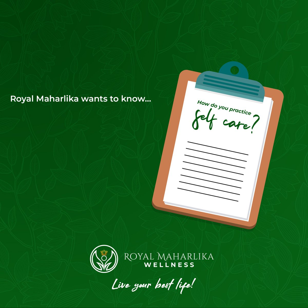 Share your self-care ideas and routines! Put your answers in the comments below  #RoyalMaharlika #Liveyourbestlife https://t.co/c0KcJB5lia