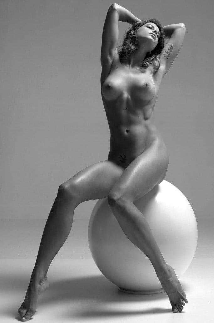 Nude model figure drawing art reference