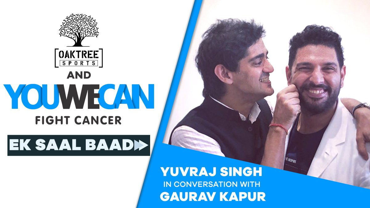 Yuvraj Singh and Gaurav Kapur sit down virtually and discuss how @YUVSTRONG12  has spent his year post-retirement, his efforts through @YouWeCan and lots more.  Watch the video here: https://t.co/N0i4ZkAYWd  #YuvrajSingh #Yuvi #GauravKapur #YouWeCan #TogetherWeCan  #Cricket https://t.co/8f9byooun1