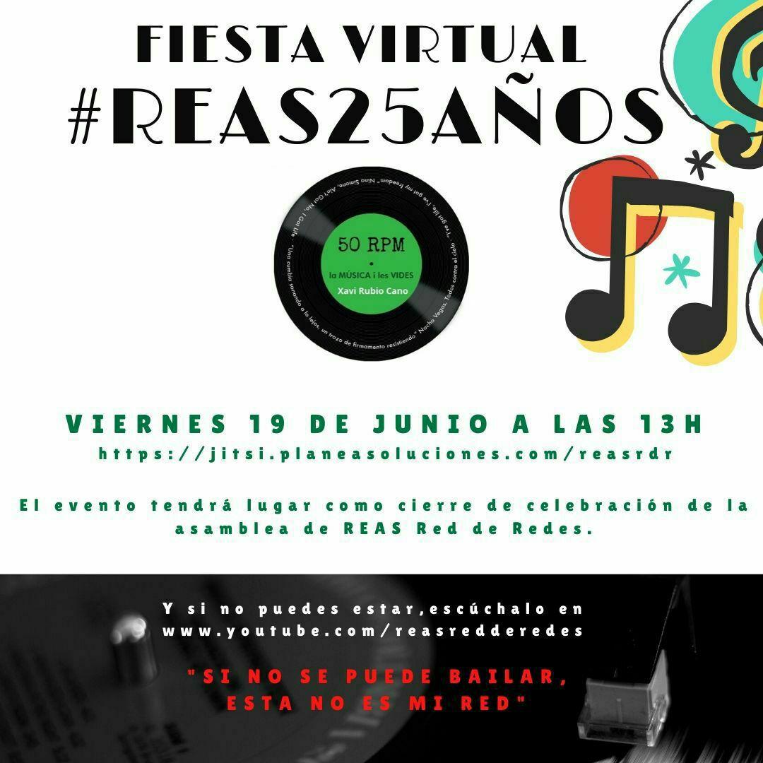 📢📣 Today is the Day! 13h Vente de Fiesta! Vine de Festa! #Reas25años @Reas_Red   🎧🎼🎹🎮🎷🎸🎵🎶🔝🔜 https://t.co/ViMUlHYwvf https://t.co/tbHJ182b4w