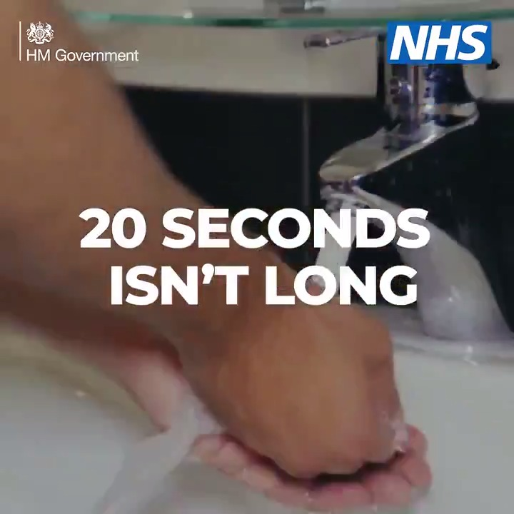 👐 Wash your hands ⏱️ 20 seconds 🛑 Stop the spread #StayAlert