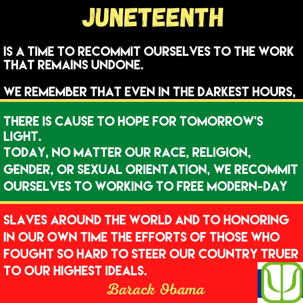 We at CPA commemorate the abolition of slavery and recommit to continued progress towards freedom for all !! #Juneteenth #JuneteenthDay https://t.co/pSHe1oUakI