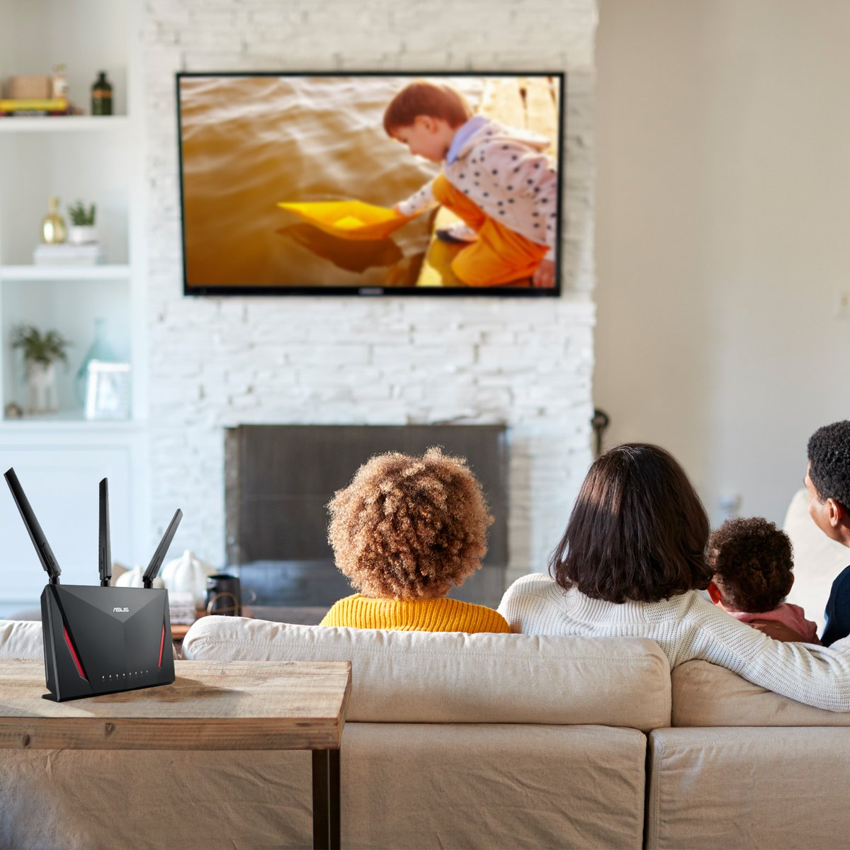 Have a smooth WiFi connection while binge watching your favorite show! Turn on the new Adaptive Quality of Service (QoS) feature in your ASUS RT-AC86U Router App. And prioritize all your home network's bandwidth into media streaming apps.  More Info: https://t.co/3zsolKonYx https://t.co/4QmBOn4UCB