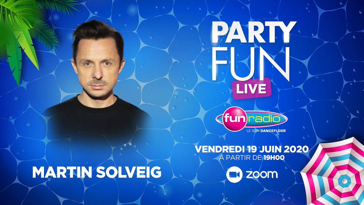 RDV ce soir de 19h à 20h avec les copains de @funradio_fr pour un PARTY FUN Live ❤️