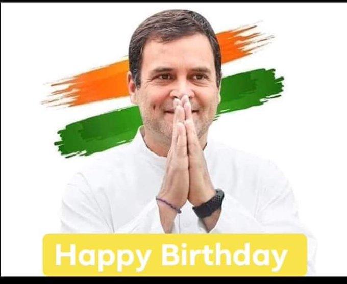 Today Happy Birthday Rahul Gandhi ji ko Congratulation