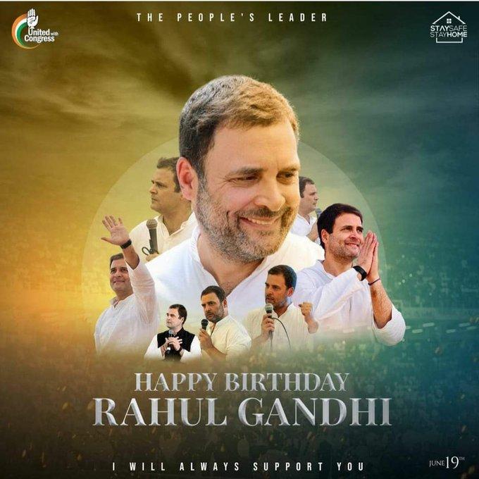 Happy birthday to world leader rahul gandhi ji.