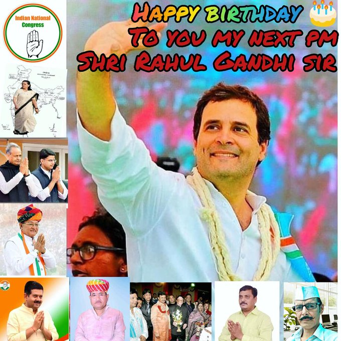 Congress party leader and next Indian pm Shri Rahul Gandhi Ji Happy birthday to you sir