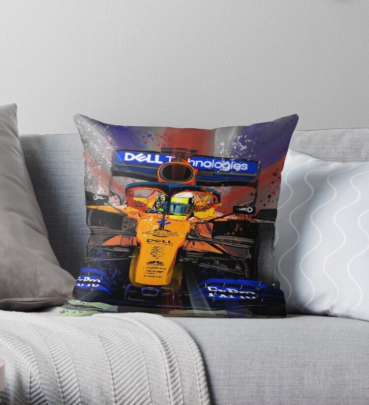 Loving the new Lando Norris Throw cushions.. Now available to order. artmonkeygarage@gmail.com for info. @McLarenFamily  @TrueMcLarenFans  #fearlesslyforward  @alansabatino   @McLarenF1ForFan   @McLarenFanPage  @mclarenf1  #mclarenultimateteam https://t.co/1MTP1JDyiO