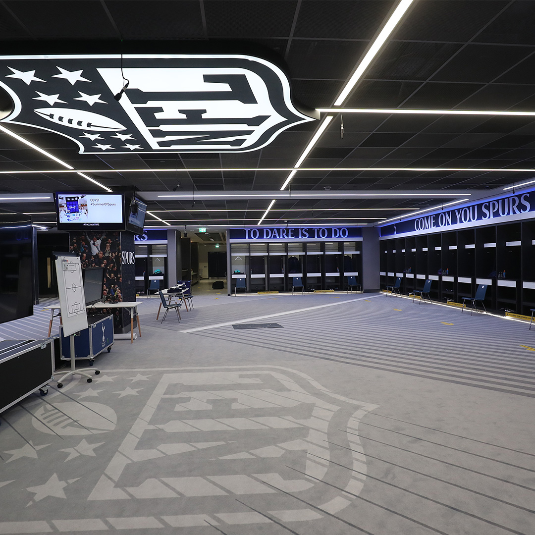 Tottenham Hotspur On Twitter Inside Our New Dressing Room To Enable Ample Social Distancing Between The Two Sides Away From The Pitch We Have Transformed The Nfl Locker Room At Tottenham