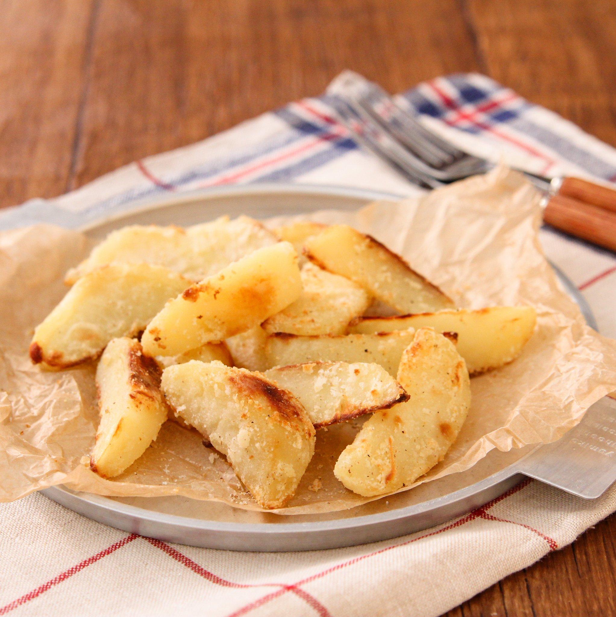 揚げずにトースターでOK!「うま塩バターポテトフライ風」の作り方!