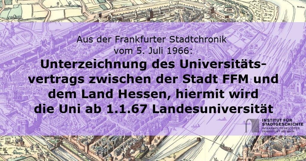 #Frankfurt|er #Stadtgeschichte #OnThisDay: #Goetheuni #Unifrankfurt #Landesuniversität @goetheuni #Stadtchronik #FFMpic.twitter.com/bE005mPO22