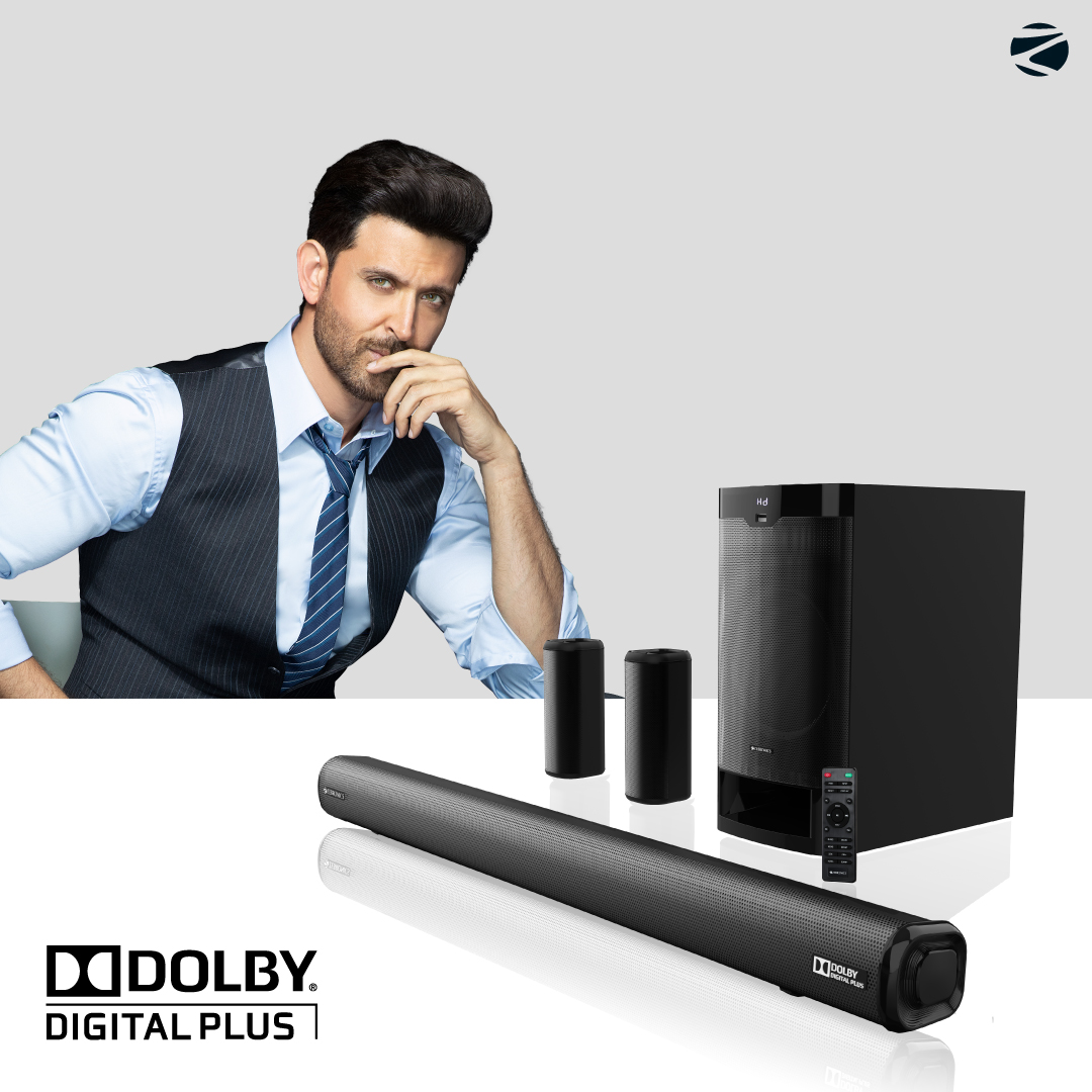 Introducing the NEWEST 5.1 Dolby Digital Plus Soundbar from #Zebronics.  Comfort of your home, Experience of a Theatre with ZeAC-Juke Bar 9400 Pro Dolby 5.1.  #sound #audio #music #dolbytheatre #dolbydigitalplus #soundbar #entertainment #theatreexperience #cinema #Indianbrand