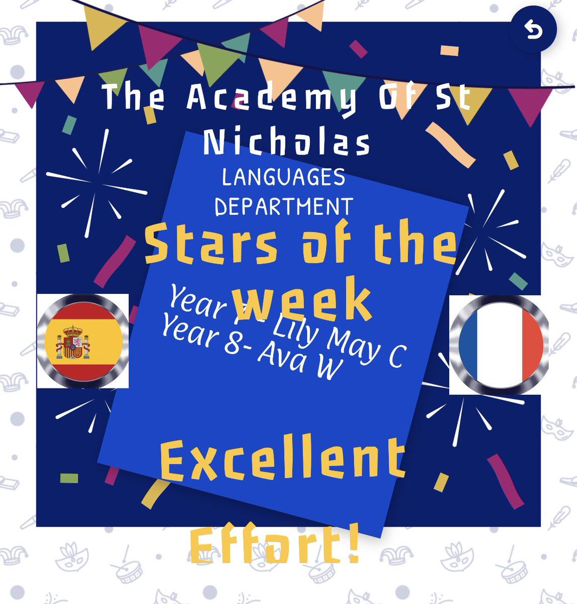 Well done to MFL stars of the week this week! Keep up the good work!