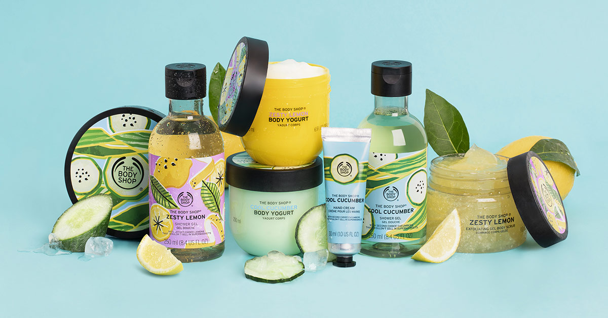🍋 Limón Ácido y 🥒 Pepino Refrescante... dos nuevas líneas de edición especial para mimarte este verano.  ¿Qué aroma te conquistará? 💚 💛 #ZestyLemon #CoolCucumber  https://t.co/TVitJG4qBt https://t.co/Knoh5j7ibK