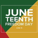 Image for the Tweet beginning: Today we are observing #Juneteenth