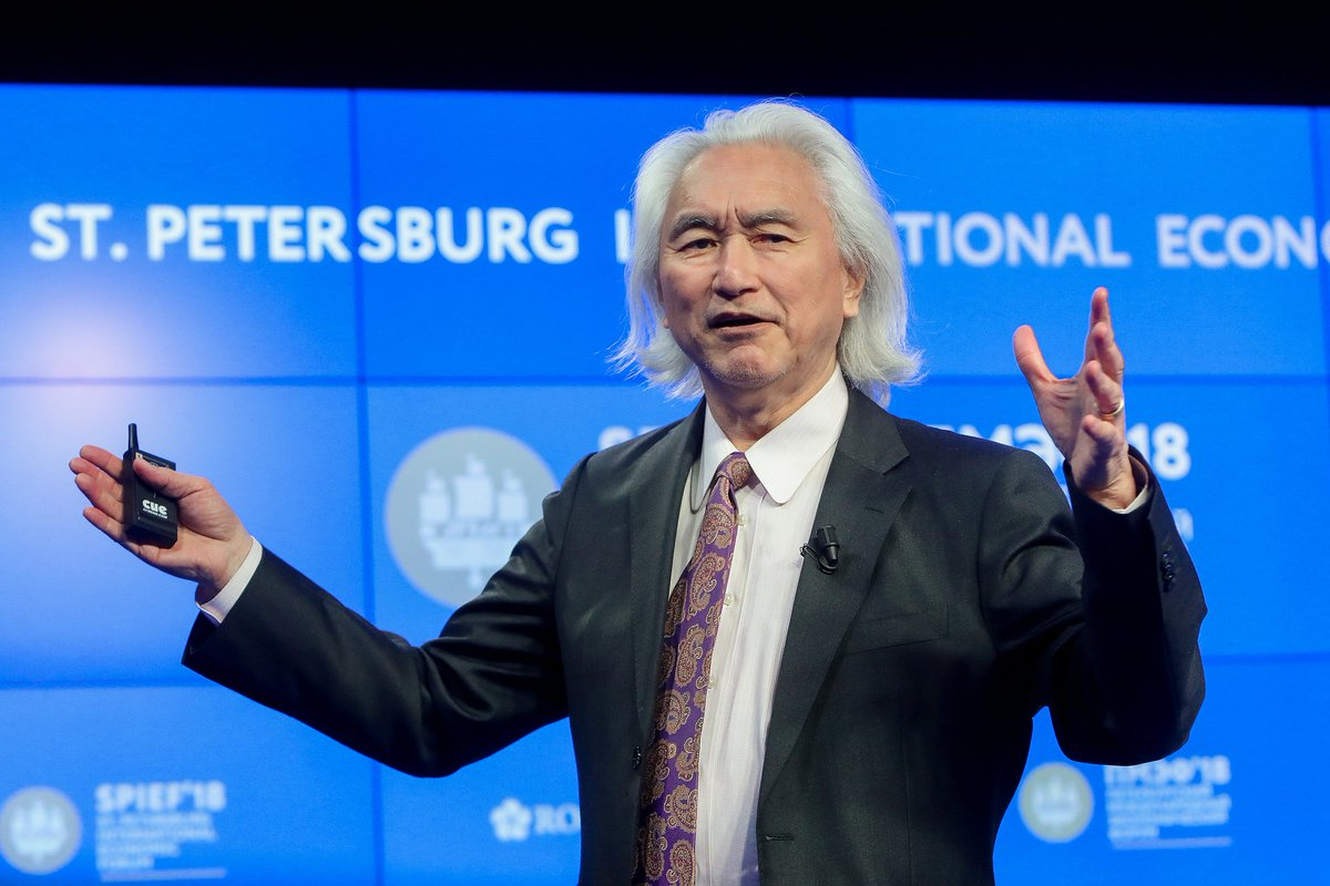 """""""I go 500 years into the future, where we might even have things right out of science fiction"""" - Michio Kaku, professor of physics, co-founder of string field theory, at SPIEF-2018 session. Watch the session recording here: youtube.com/watch?v=8dRIDU… #SPIEFtime #MichioKaku"""