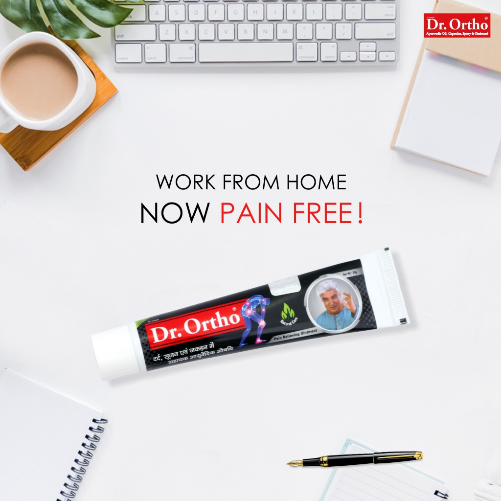 👉 Now make your work from home schedule pain free! 👉 #DrOrtho Ayurvedic joint pain reliever ointment contains the goodness of herbal ingredients and gives you relief from common joint pains like back pain, neck pain, shoulder pain and wrist pain. https://t.co/DDRidgx372