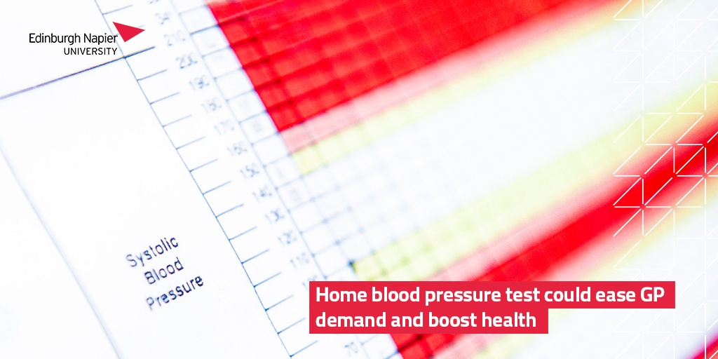 NEWS   Patients who need a blood pressure test might not need to visit their GP thanks to a digital system that makes it easier to send results to their doctor.   The research has been developed by #EdNapier and @EdinUniUsher.  Full story 👉🏻 https://t.co/TQfmNee3X0 https://t.co/2b4eVVOdl5