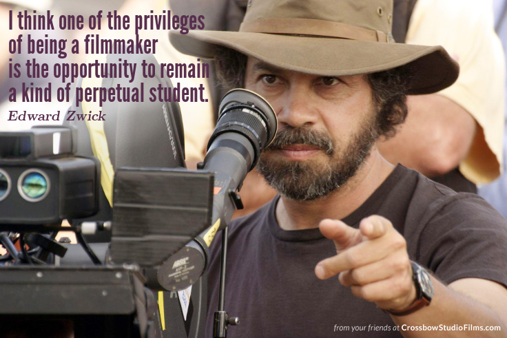 One privilege of being a filmmaker: the opportunity to remain a kind of perpetual student. #EdwardZwick #filmmakingpic.twitter.com/FSjdzBGaPQ