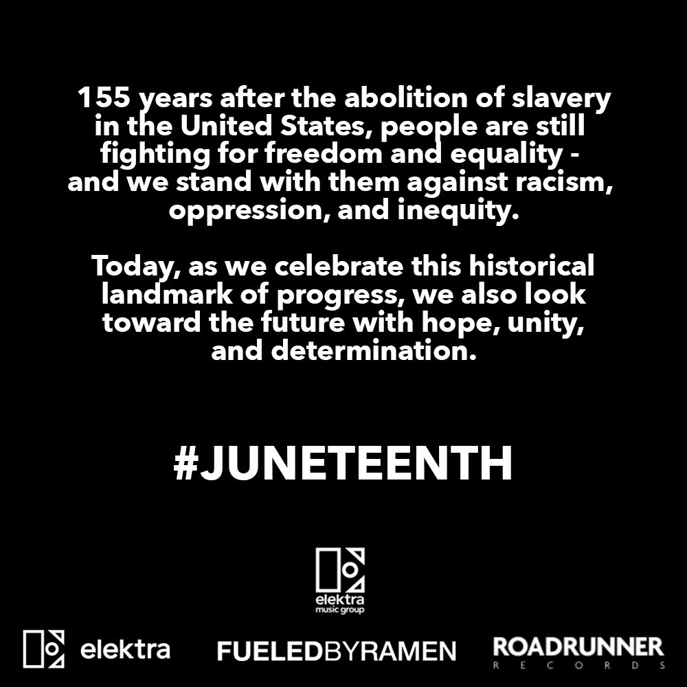 Today, as we celebrate #Juneteenth, we also look toward the future with hope, unity, and determination. https://t.co/bYxhHRTkG5