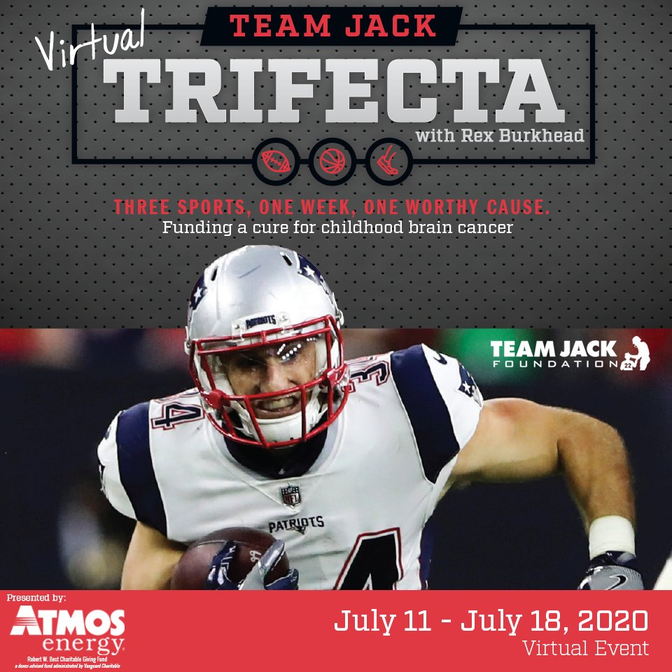 We're so grateful to have @atmosenergy as our presenting sponsor of the Team Jack Trifecta with @RBrex34! The event has gone virtual and will be held from July 11 - 18! Visit https://t.co/3VE6SHzXdr for more info and to sign up! #teamjacktrifecta #fundthecure https://t.co/KIznz22svN