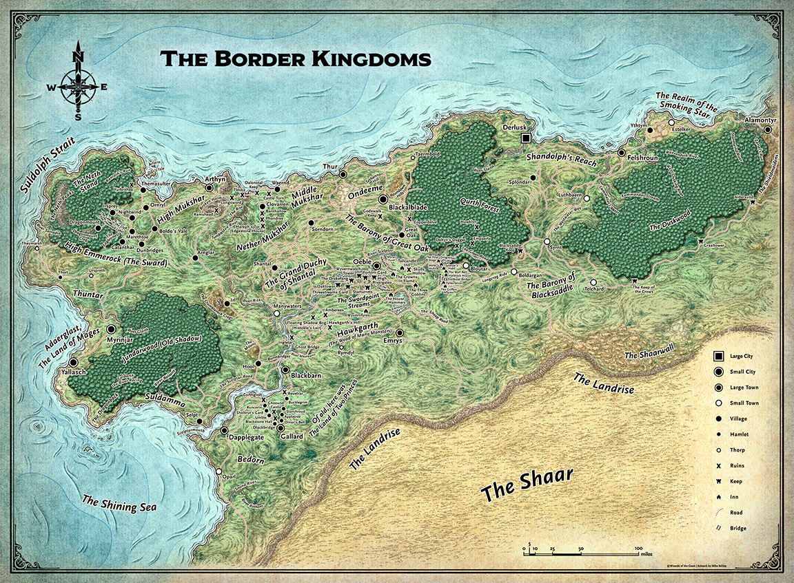 #TheBorderKingdoms are finally open! Strap on your explorer's boots and grab a copy of my recent #ForgottenRealms map now – https://t.co/GVEsfznr4i #RPG #DnD https://t.co/2TxQHIvKl5