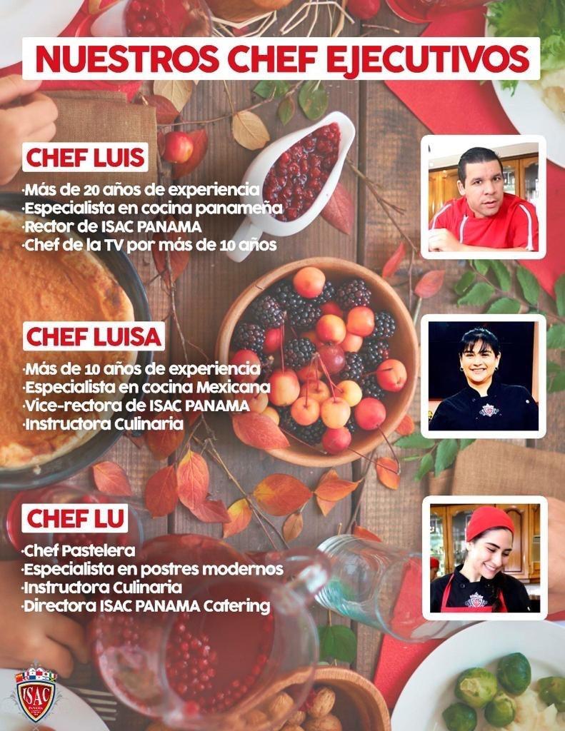 ISAC PANAMÁ Cuenta con catedráticos de la más alta calidad y con una gran experiencia laboral para así poder compartirles a nuestros alumnos los conocimientos necesarios para convertirse en Chef 👨🏻🍳👩🏽🍳 https://t.co/wCNsjs3txb