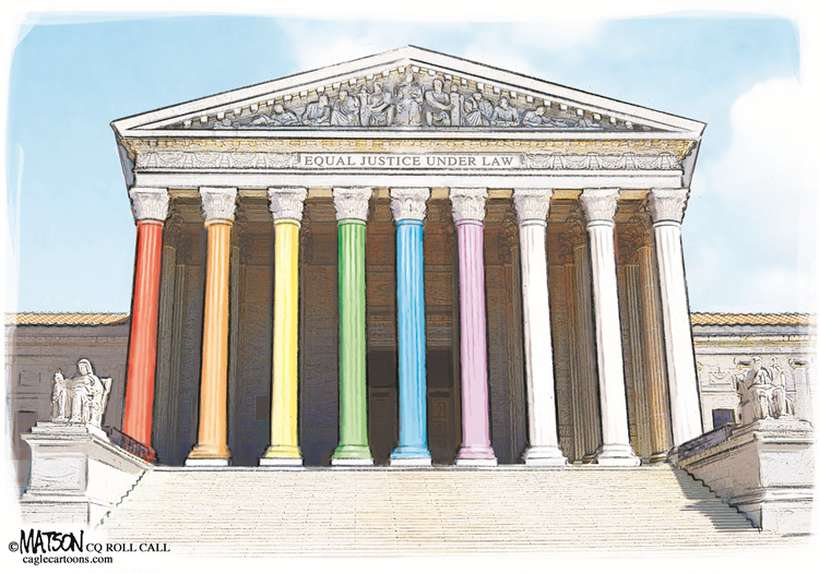 See our best cartoons about the #SupremeCourtRuling on #LGBTQ civil rights – on my blog at: https://t.co/TaBr45HkR5 Come look and retweet!  Cartoon by: RJ Matson Subscribe for free: https://t.co/Q9T1TWi9rw Support the Cartoonists: https://t.co/zUIYTIAbVg https://t.co/m4peSIdes6