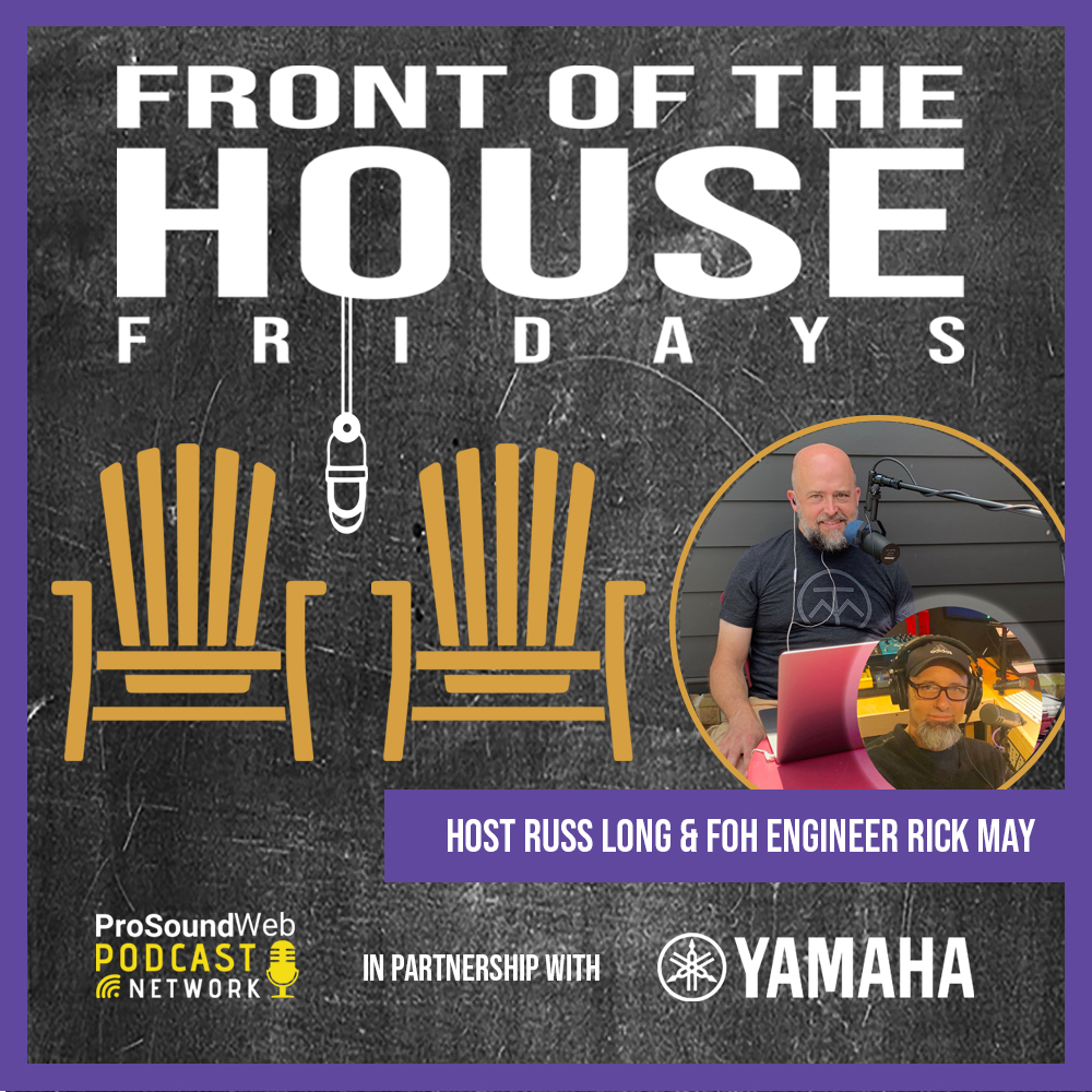 "Creative FOH engineer Rick May (MercyMe) discussing his transition from ""the basement to the arena scene,"" overcoming career challenges, approach to mixing and techniques, and more with our host, veteran audio engineer, Russ Long. #yamaha    Check it out: https://t.co/8LEqBaStEe https://t.co/L650tD56oB"