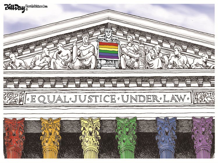 See our best cartoons about the #SupremeCourtRuling on #LGBTQ civil rights – on my blog at: https://t.co/TaBr45HkR5 Come look and retweet!  Cartoon by: Bill Day Subscribe for free: https://t.co/Q9T1TWi9rw Support the Cartoonists: https://t.co/zUIYTIAbVg https://t.co/fm9nNZVEe8