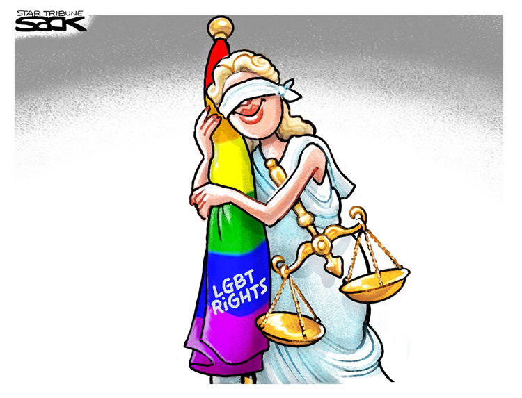 See our best cartoons about the #SupremeCourtRuling on #LGBTQ civil rights – on my blog at: https://t.co/TaBr45HkR5 Come look and retweet!  Cartoon by: Steve Sack Subscribe for free: https://t.co/Q9T1TWi9rw Support the Cartoonists: https://t.co/zUIYTIAbVg https://t.co/KyhzQRcqKh