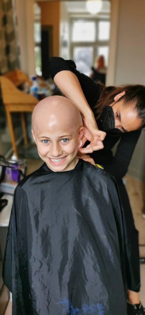 Day two on set for Young Actor, BIBI, and she looks like this!! Amazing!   #youngactor #childactor #littleactor #baldcap #filmmakeup #filming#onsetpic.twitter.com/loAog1hyTO