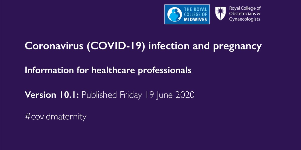 **New updates to our coronavirus and pregnancy guidance**  Information for healthcare professionals: https://t.co/t0ck3efmrs  #covidmaternity #Covid19UK   @MidwivesRCM @RCPCHtweets @RCoANews https://t.co/fDpxkCoXhY