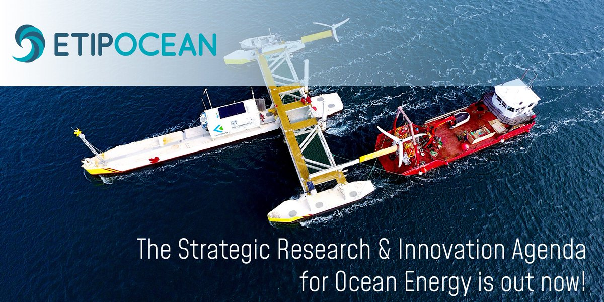 .@EtipOcean just released its Strategic Research and Innovation Agenda for Ocean Energy. As #Europe gears up for its #GreenRecovery, deploying new #renewable technologies is urgently needed to drive decarbonisation and #innovation-based growth. #EUSEW2020 https://t.co/pCYVHqVCXw https://t.co/LWcpFmC9KZ