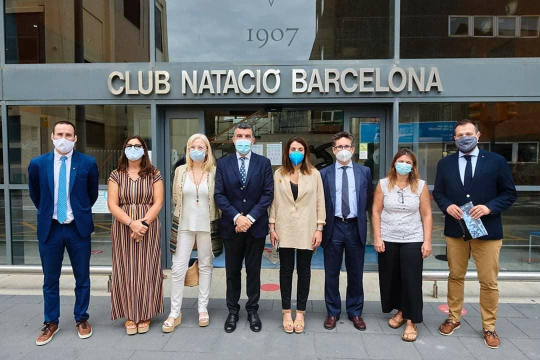 Enric Bertrán President de @nataciocat a la visita oficial al @CNBARCELONA de @meritxellbudo @gfigueras @Pere_vila_juris @esportcat i @BCN_esports  📸 @CNBARCELONA https://t.co/rFKeqeJggh