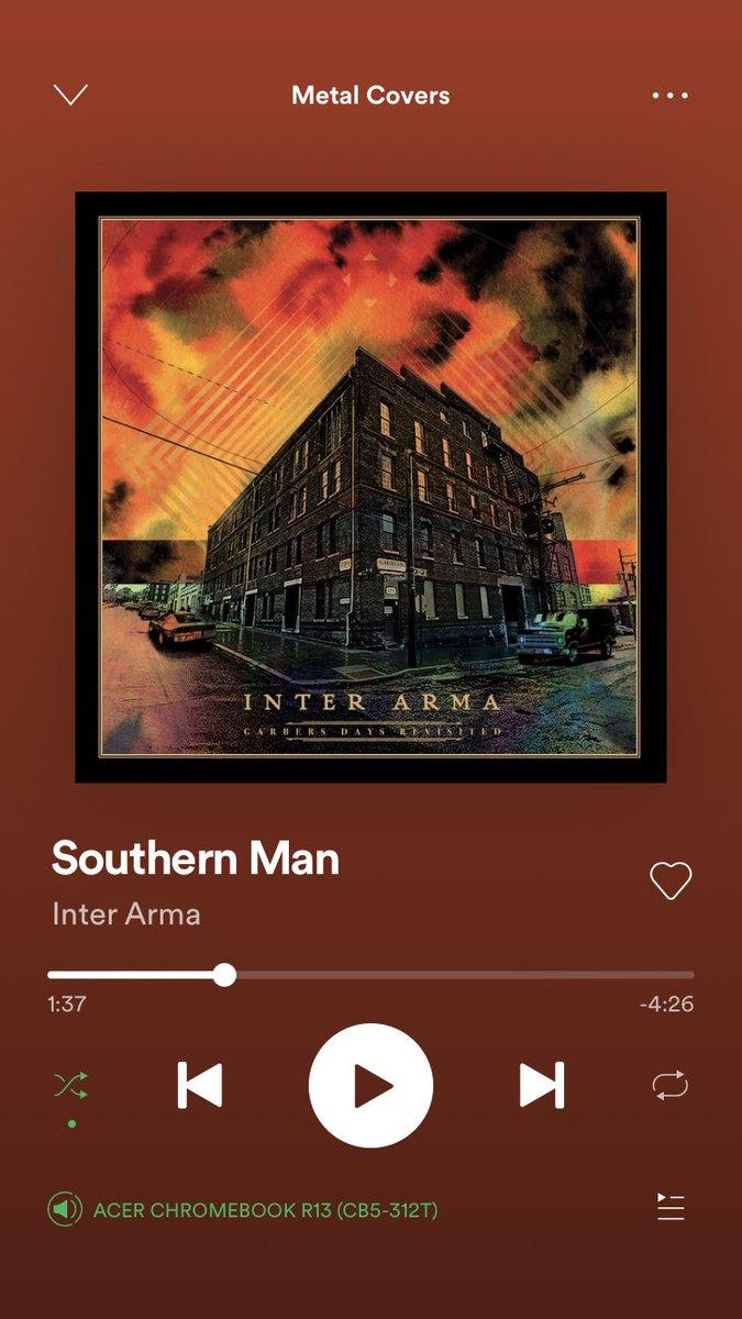 Een namiddag klassiekers luisteren op aangenaam (buren)volume. Summer is in the air! #southernman #metalcovers #spotifypic.twitter.com/UnS2BlfqV7