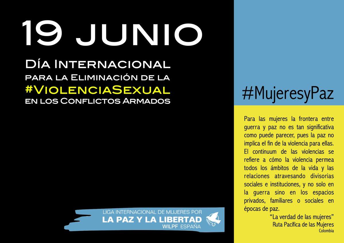 Hoy es el Día Internacional para la Eliminación de la #ViolenciaSexual en el Conflicto. #EndRapeInWar https://t.co/iCYRTZZrGI