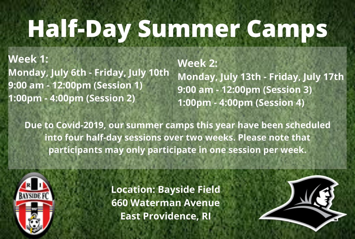 It's going to be a little different, but our summer camp is now open for registration! The camps are open to boys and girls with birth years from 2007 to 2013. Link in bio.