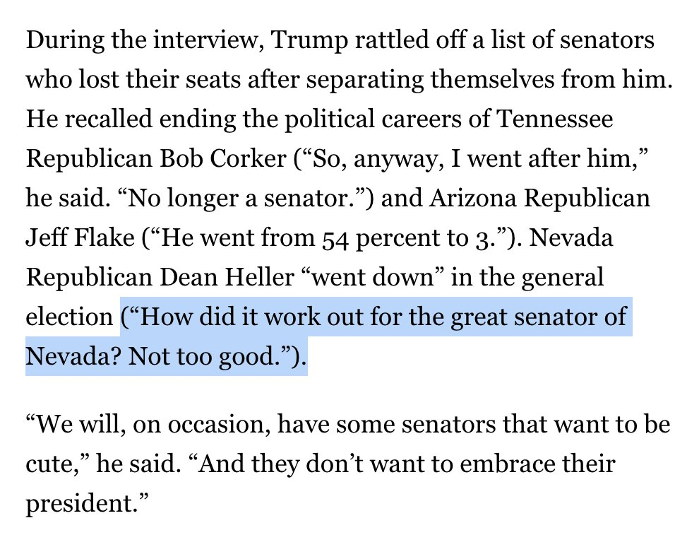 more than a year and a half after the 2018 election, Trump continuing to attack Dean Heller   https://www. politico.com/news/2020/06/1 9/trump-interview-mail-voting-329307   …  #NVSen <br>http://pic.twitter.com/mdLrb7YUZ3