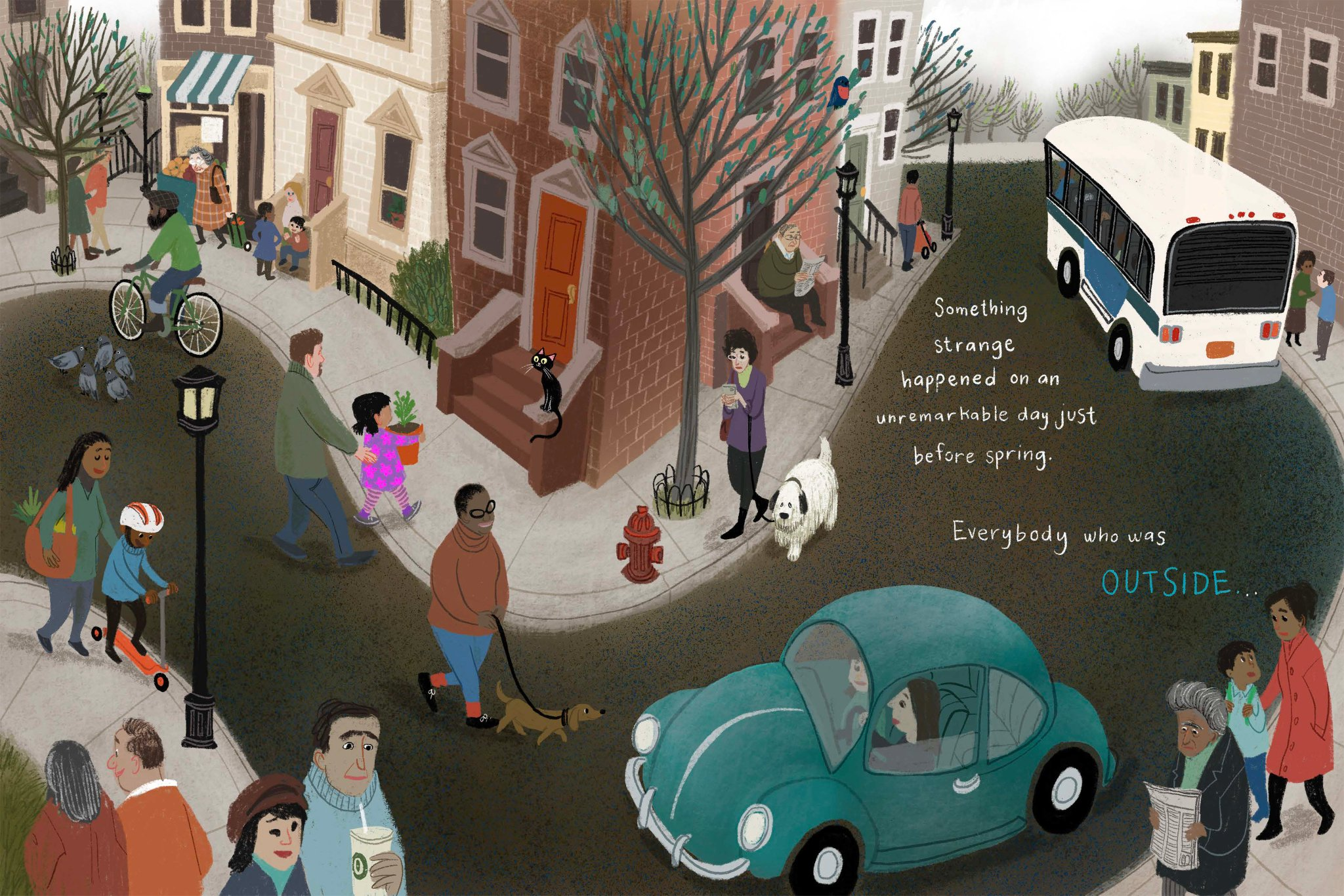 """Eric Carle Museum on Twitter: """"ART in PLACE: Social Distancing in the  Studio Online Exhibition: https://t.co/LyPS6GqIN5 LeUyen Pham, Outside, May  2020. Image courtesy of the artist. © LeUyen Pham. LeUyen Pham, Inside,"""